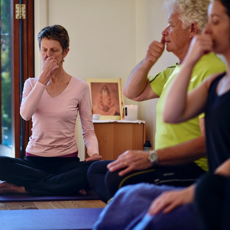 Yoga breathing practices